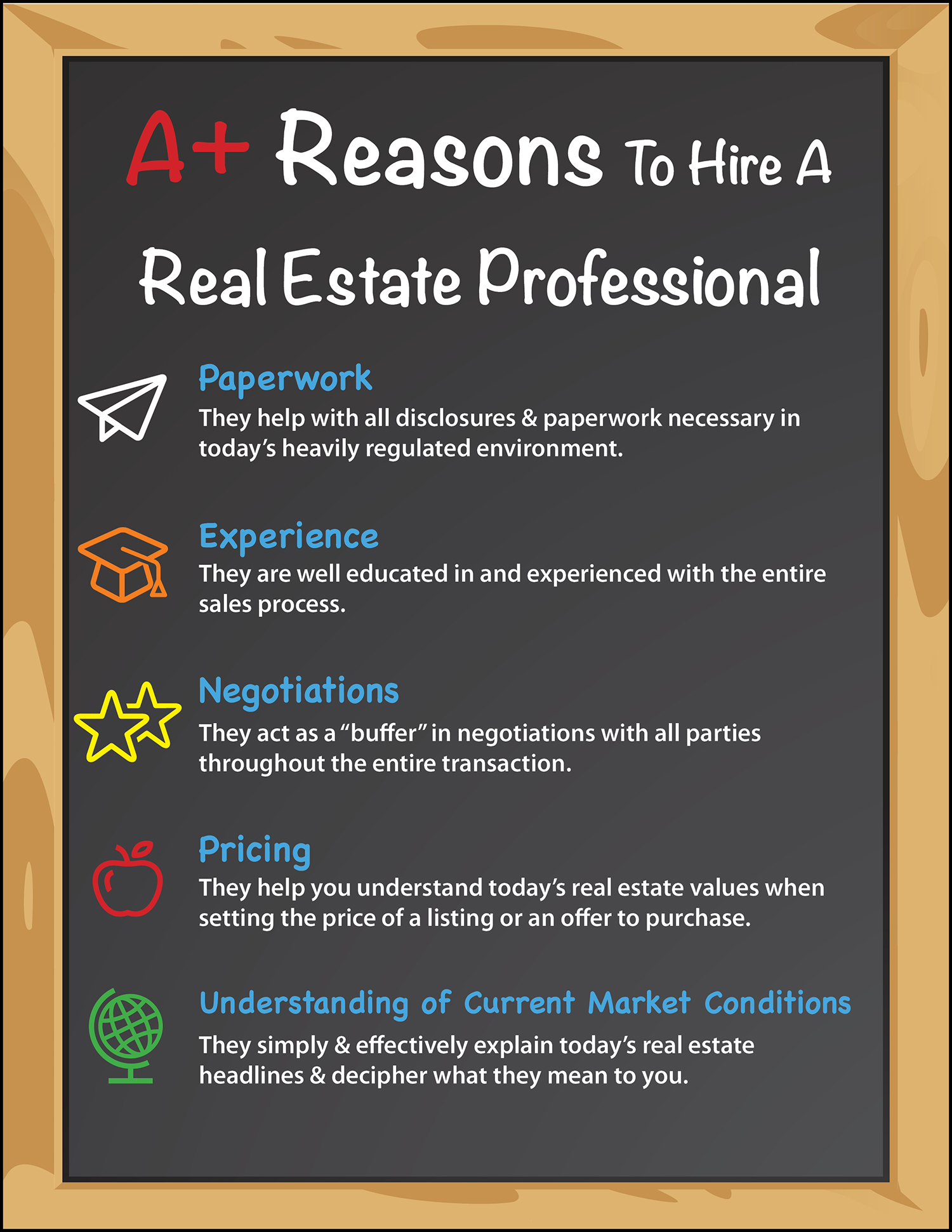 Top 5 A+ Reasons to Hire a Real Estate Pro [INFOGRAPHIC]   MyKCM
